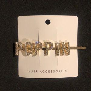 POPPIN Gold Rhinestone Hair Clip 😎
